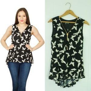 IZABEL London Black And White Butterfly Dress Size 10